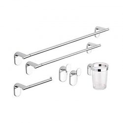 set 5 accessori metaform da bagno cromo lucido